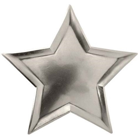 Silver Star Shaped Plates - Paper & Parties Boutique