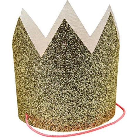 Gold Glitter Crowns