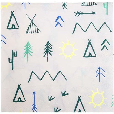 Meri Meri Woodland Napkins- Large - Paper & Parties Boutique | Party Store Vancouver, party decorations Canada