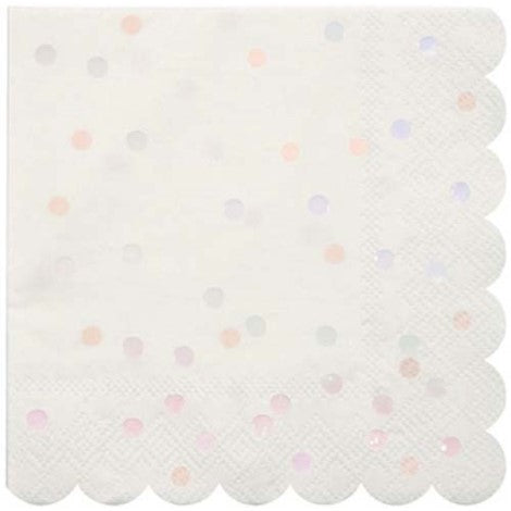 Iridescent Polka Dot Napkins- Small - Paper & Parties Boutique