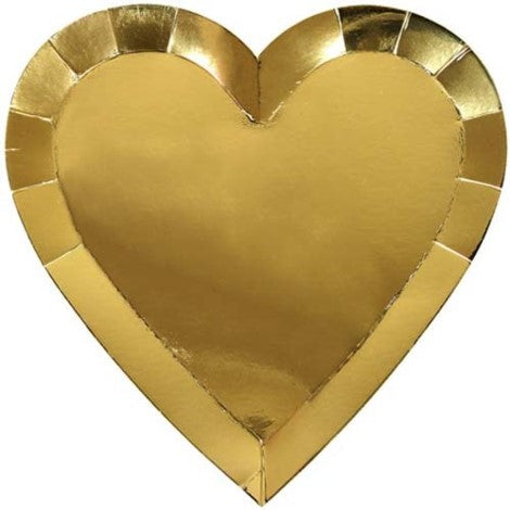 Gold Heart Plate- Large - Paper & Parties Boutique