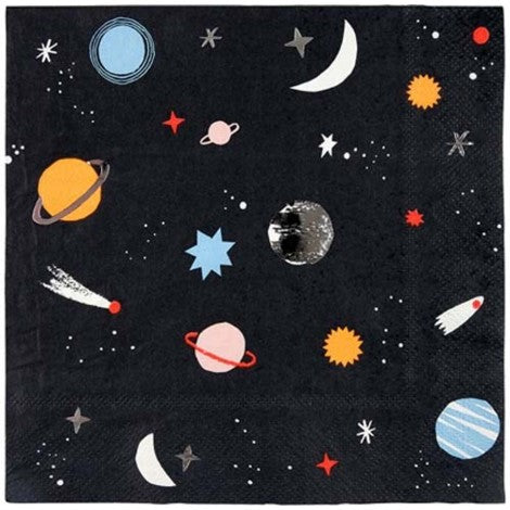 Space Napkins- Large - Paper & Parties Boutique