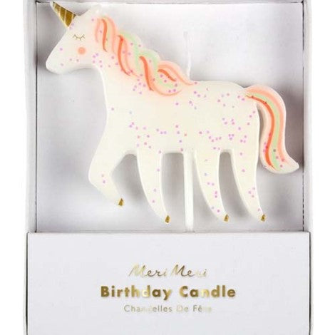 Meri Meri Unicorn Candle - Paper & Parties Boutique | Unicorn Theme Birthday Party Supplies Canada