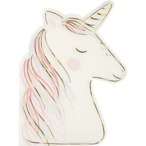 Meri Meri Unicorn Napkins- Large - Paper & Parties Boutique | Unicorn Party Themes for Kids