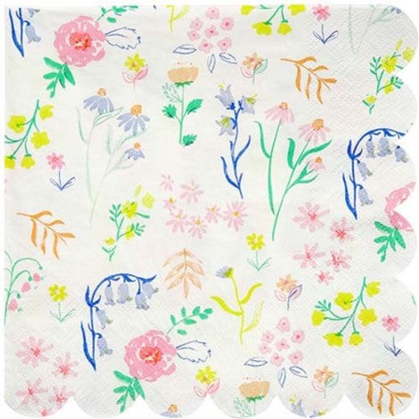 Dainty Floral Napkins- Large - Paper & Parties Boutique