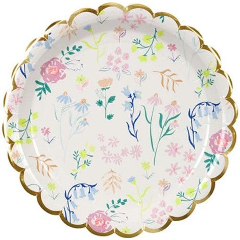 Meri Meri Dainty Floral Plates- Small - Paper & Parties Boutique | Floral Party Supplies Canada, Floral Party Decorations