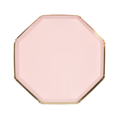 Octagonal Pink Pastel Plates- Small