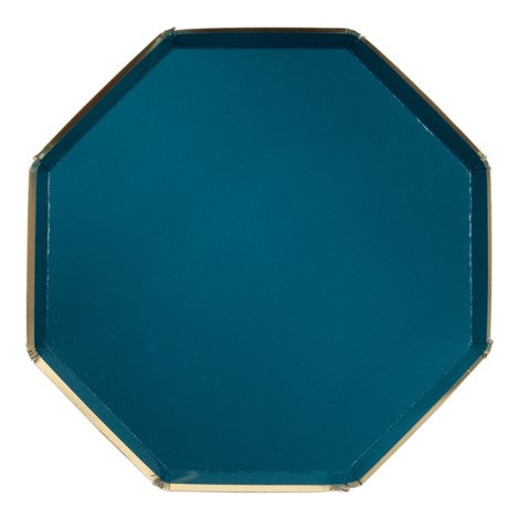 Octagonal Dark Green Plates- Small