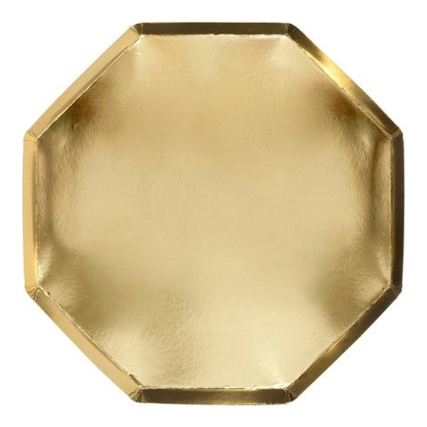Octagonal Gold Plates- Large S2081