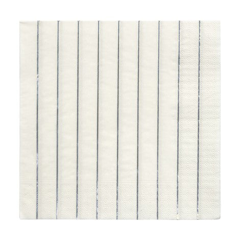 Large Silver Foil Striped Napkin