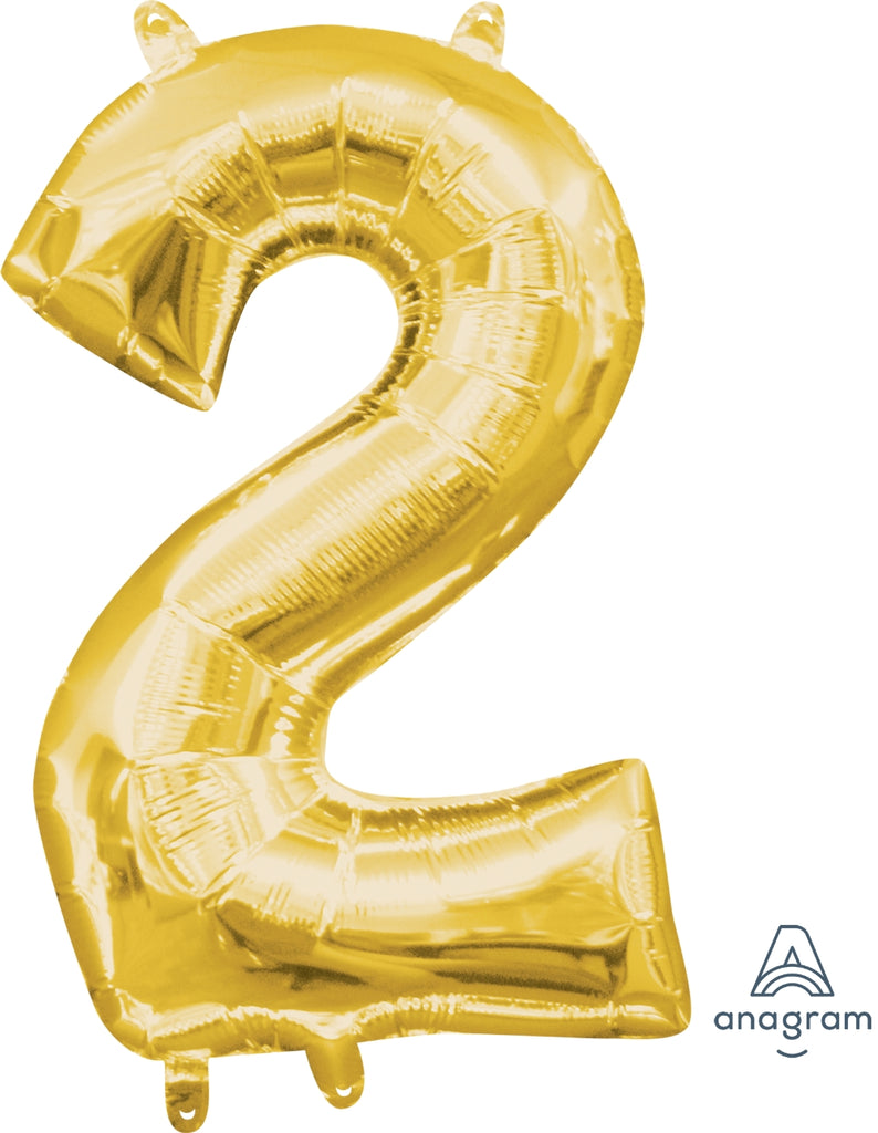 Gold 2 Jumbo Foil Balloon | Party Balloon