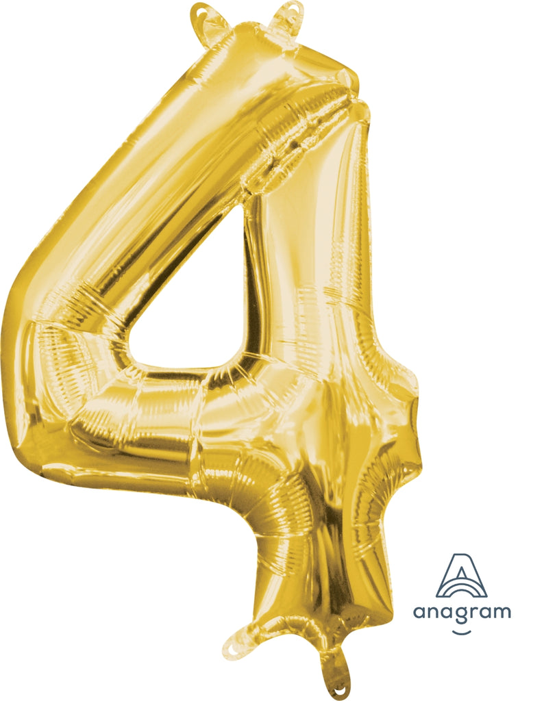 Gold 4 Jumbo Foil Balloon | Party Balloon