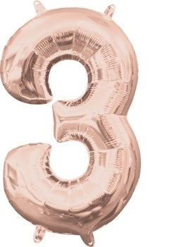Rose Gold 3 Jumbo Foil Balloon