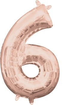 Rose Gold 6 Jumbo Foil Balloon