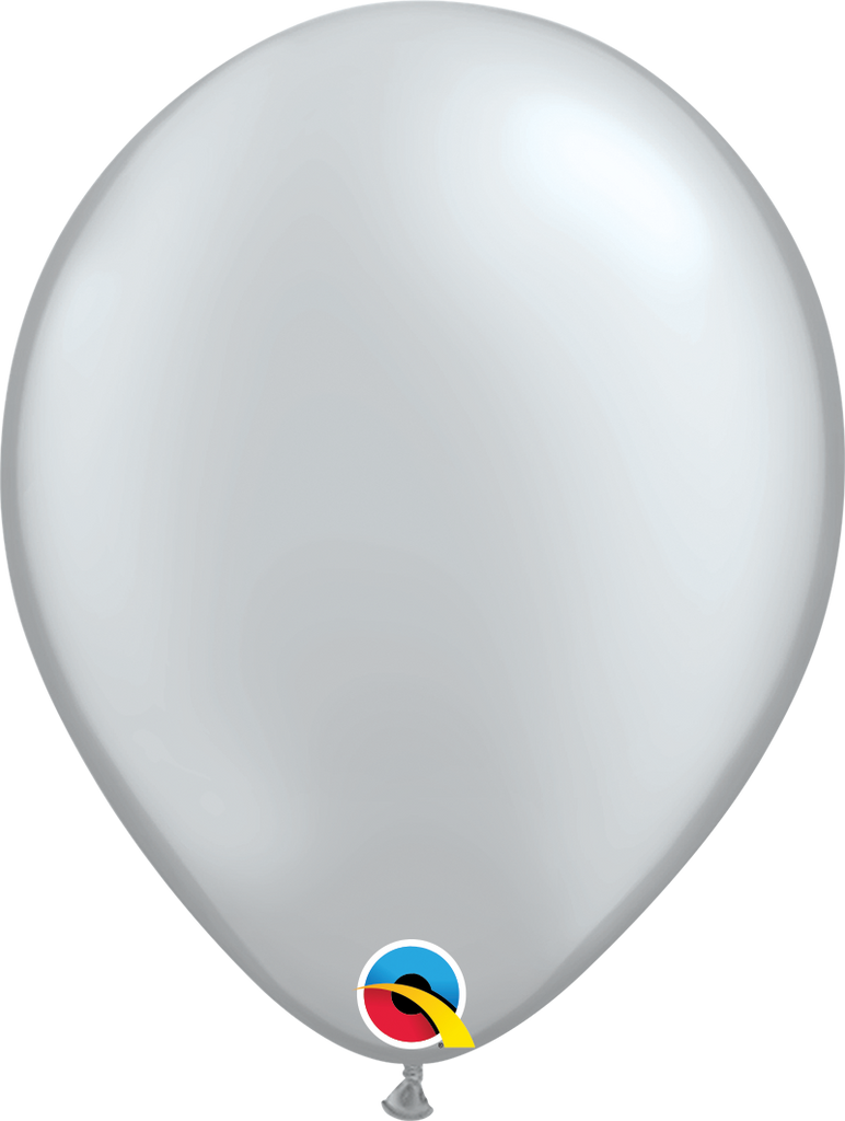 "11"" Silver Latex Balloon - Paper & Parties Boutique"