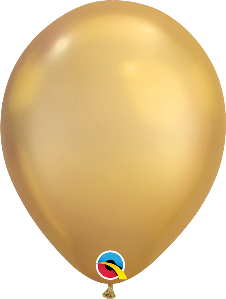"11"" Chrome Gold Latex Balloon - Paper & Parties Boutique Party Balloons"