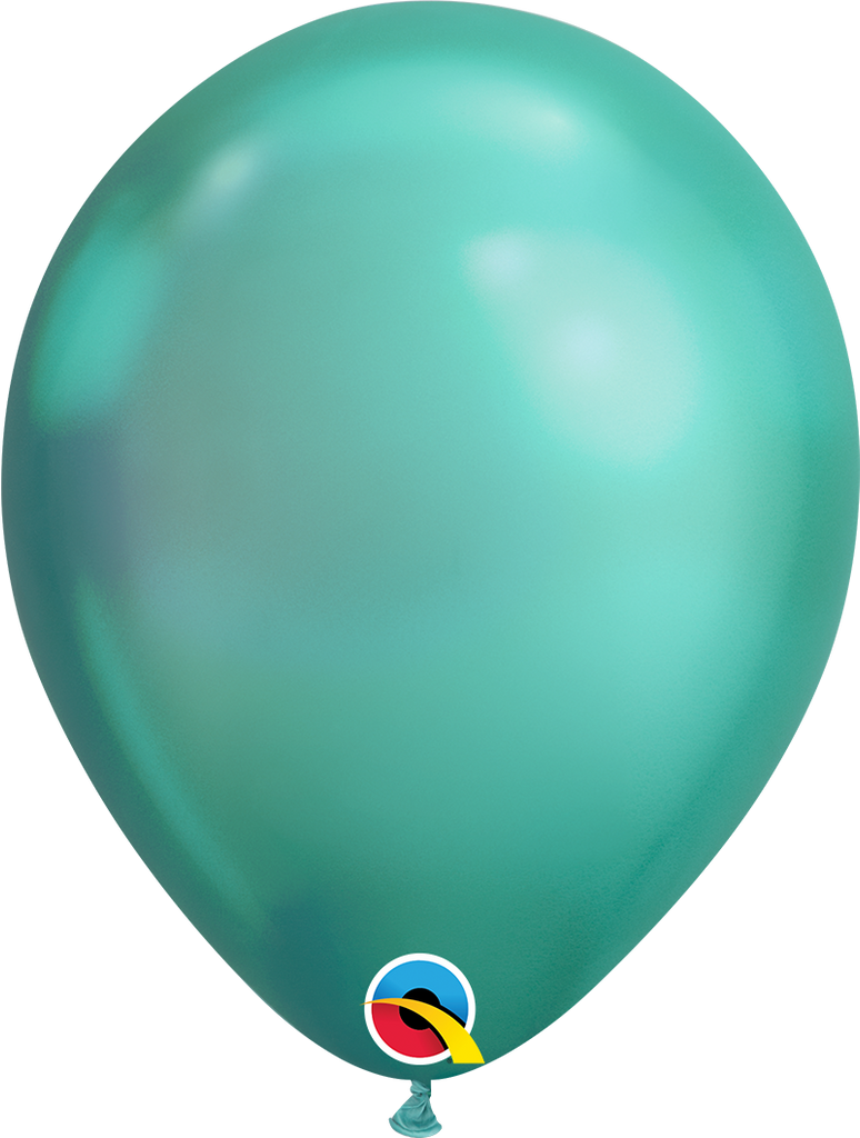 "11"" Chrome Mint Latex Balloon - Paper & Parties Boutique"