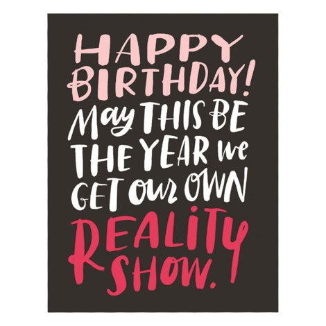 Reality Show Greeting Card - Emily McDowell Studios
