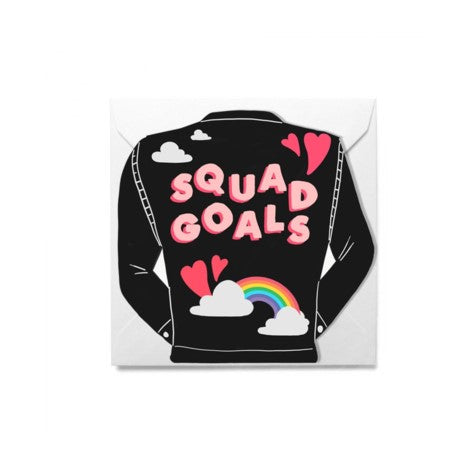 Squad Goals Greeting Card - Jolly Awesome