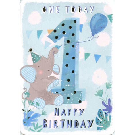 First Birthday Boy Greeting Card - Ling Design