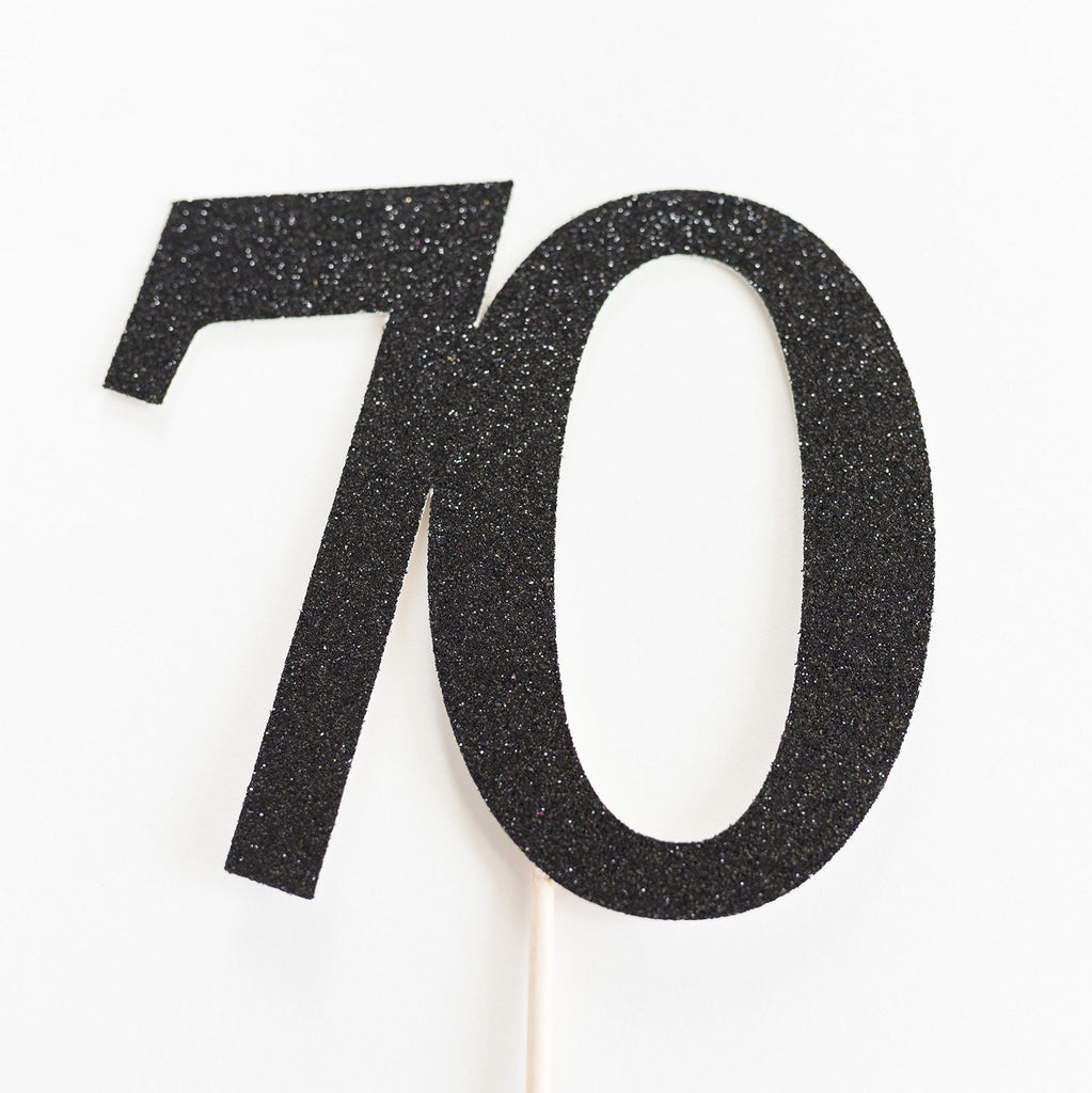 70 Cake Topper Black - Paper & Parties Boutique | Party Supplies Canada