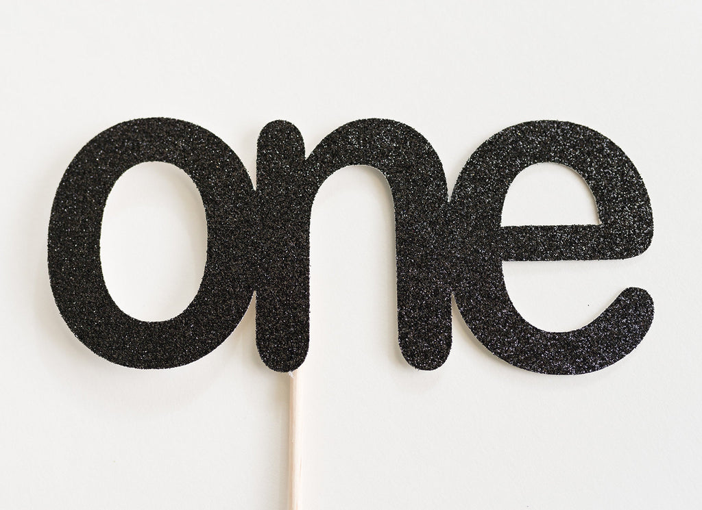 One Cake Topper Black - Paper & Parties Boutique