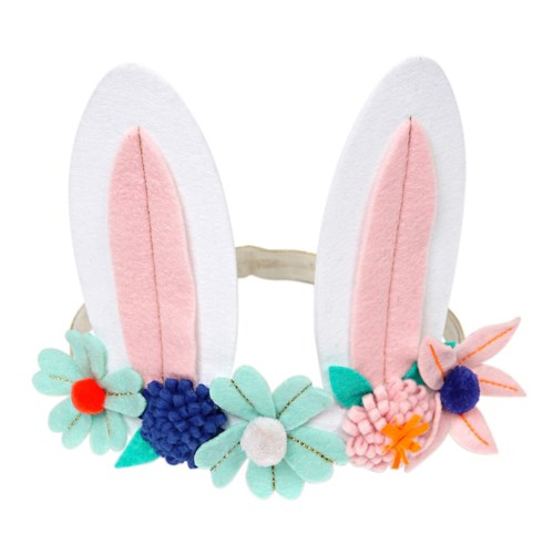 Flower Crown Bunny Ears Head Band S1050