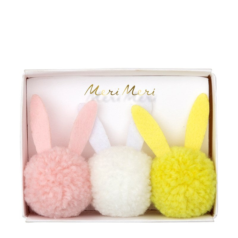 Easter Basket Stuffers Pom Pom Bunny Hair Ties