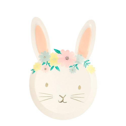 Easter Bunny Flower Crown Dessert Plates S1054