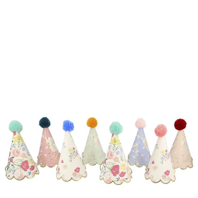 English Garden Party Floral Mini Party Hats S1052