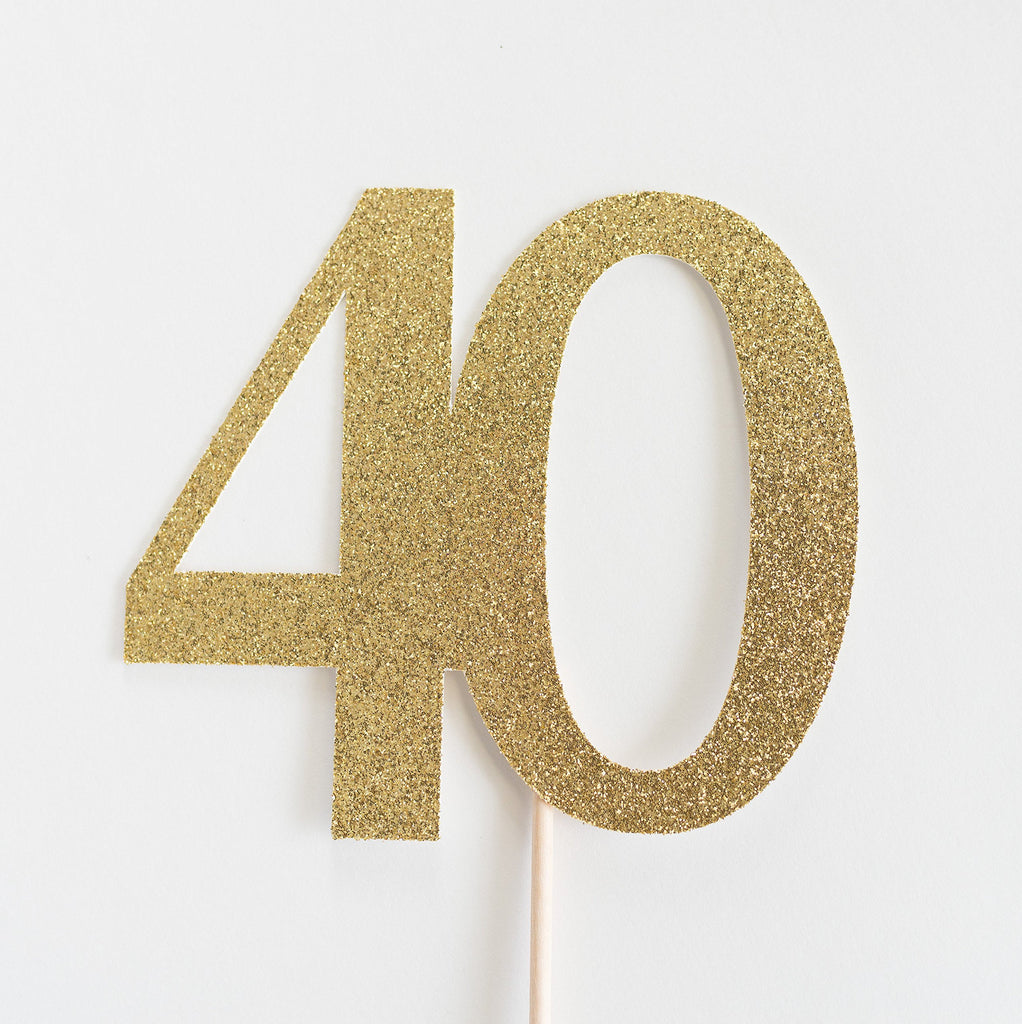 40 Cake Topper Gold - Paper & Parties Boutique