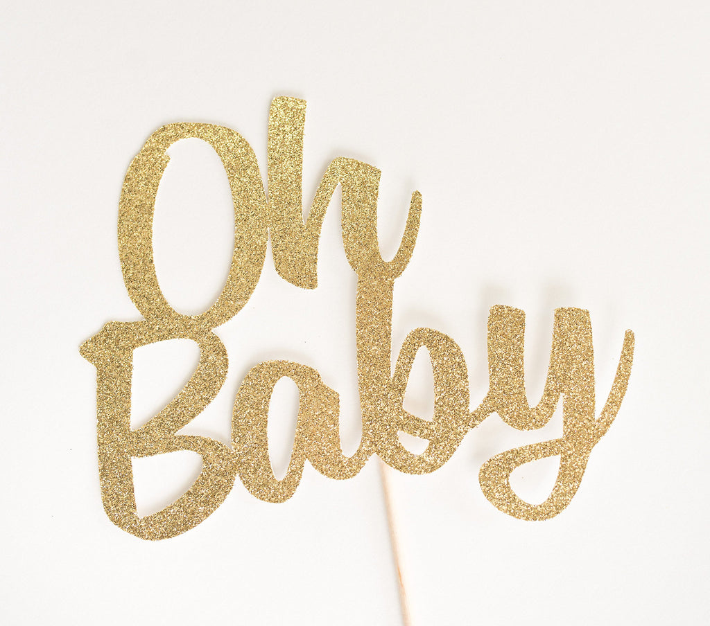 Oh Baby Cake Topper Gold - Paper & Parties Boutique