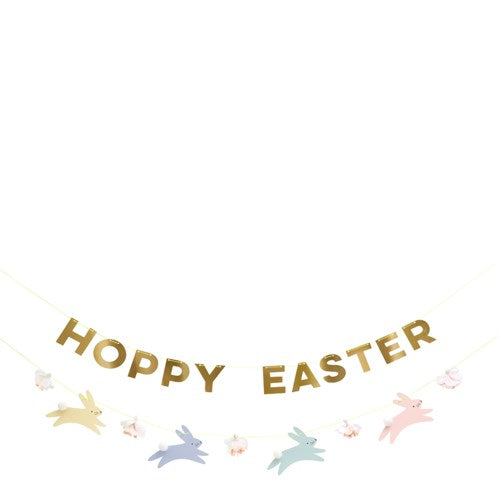 Hoppy Easter Banner Garland S1041