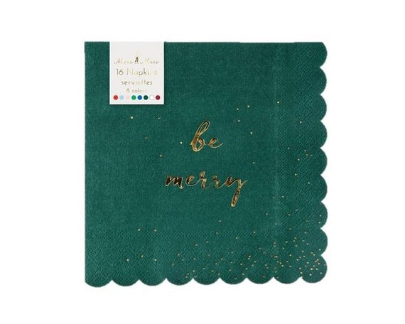 Be Merry Napkins Small