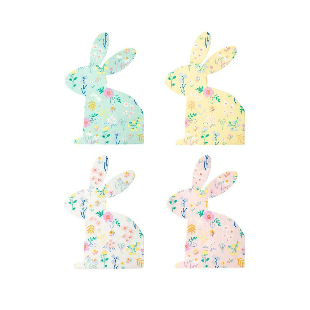 Floral Bunny Napkins S1045