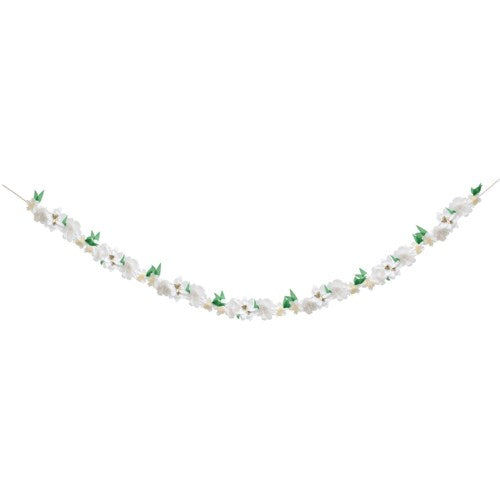 White Spring Floral Garland S1057