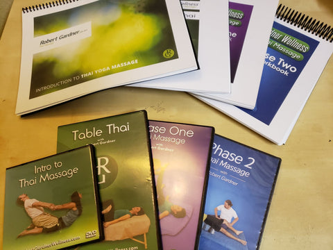 [PHYSICAL] Complete Thai Massage Bundle - 4 Workbooks & 9 DVD's