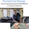 Thai Style Foot Massage 6 NCBTMB Approved CEs