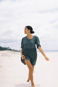 Palms Smock Dress- Desert Sage