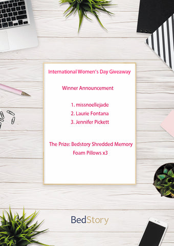 BedStory Women' s Day Winner Announcement