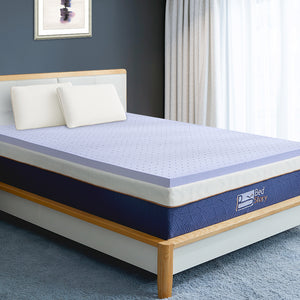BedStory 2 Inch Lavender Infused Memory Foam Mattress Topper