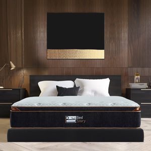 BedStory 12 Inch Gel Hybrid Mattress Twin Black
