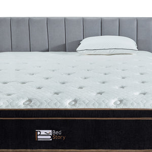 BedStory 12 Inch Gel Hybrid Mattress king  Black