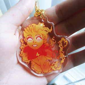 Human Torch | Clear Acrylic Charm