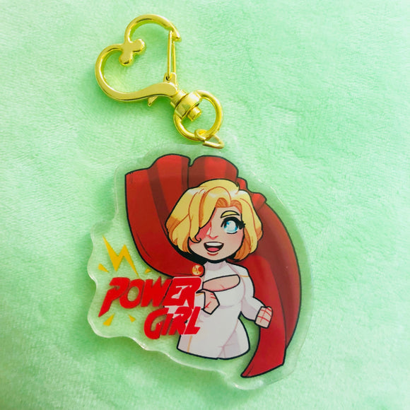 Power Girl | Clear Acrylic Charm