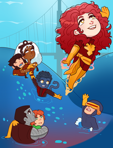 Not so Dark Phoenix 8.5x11 Art Print