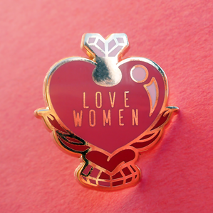 Love Women - Love Potion Heart - Pin