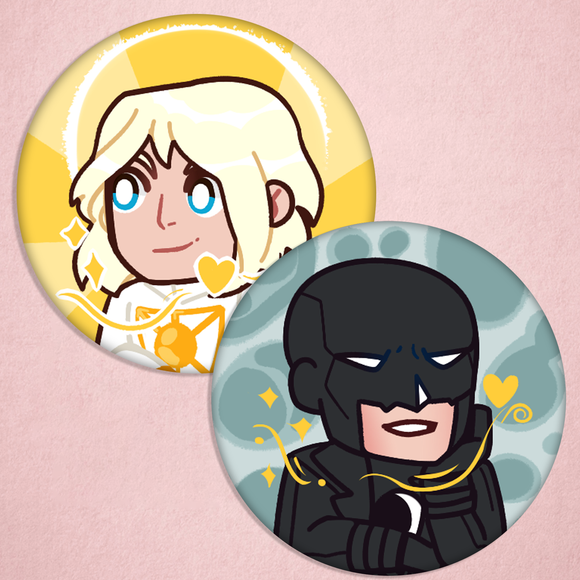 Midnighter and Apollo - Classic Button Set