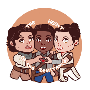 Heart of the Resistance - Poe, Finn, Rey Button