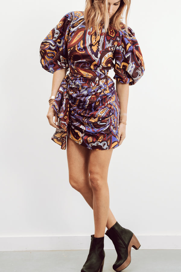 PIA DRESS IN PAISLEY